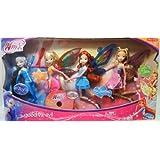 """Winx Club Good vs Evil 4 Pack Icy Bloom Stella Flora 11.5"""" Enchantix Dolls"""