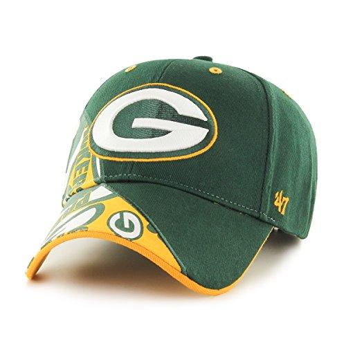 NFL Green Bay Packers Wedge MVP Adjustable Hat, One Size, Dark Green