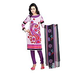 Atisundar Elegant Red And Purple Printed Unstitched Suits- 6656_46_6624