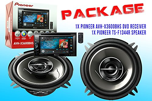Package ! Pioneeravh-3600Bhs Dvd Receiver + Pioneer Ts-G1344R Car Speakers