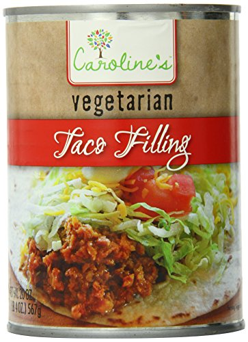 Caroline's Vegetarian Taco Filling, 20 Ounce (Pack of 12)