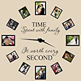 Time Spent with Family Is Worth Every Second Wall Decal Quote Home Decor Art