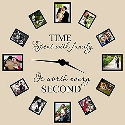 Time Spent With Family Is Worth Every Second Wall Decal Family Wall Decal Wall Decor Idee Fai Da Te Idee Idee Per Decorare La Casa