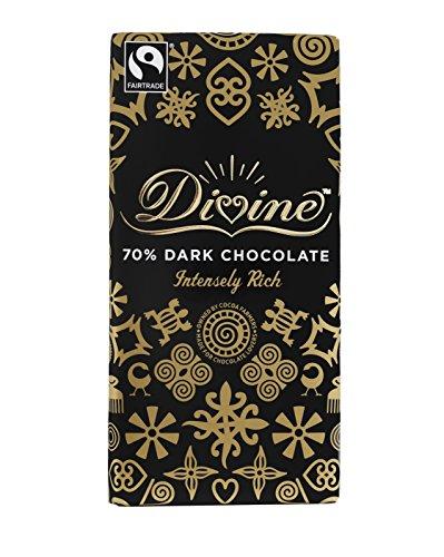 Divine Chocolate - 70% Dark Chocolate - 100g (Case of 15)