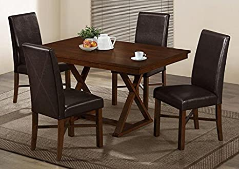 "MODERN OAK VENEER 36""X 60"" DINING TABLE (SIZE: 60L X 36W X 30H)"