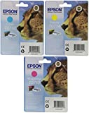 Epson T071 Original Inkjet Cartridges Bundle Pack - Cyan/ Magenta/ Yellow