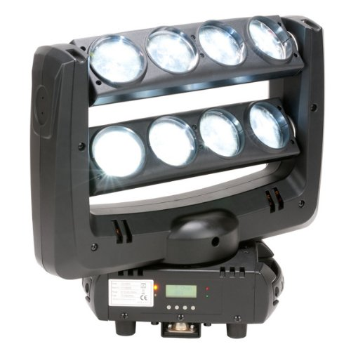American Dj Crazy 8 | Adj Moving Head Fixture With 8 Head Beam Effect (8 X 10 Watt White Led)