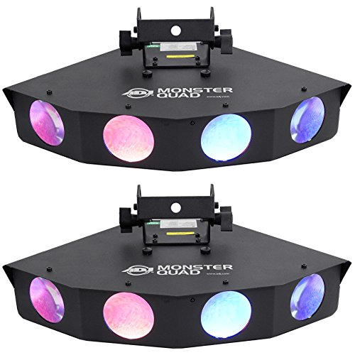 (2) American DJ Monster Quad RGBWA LED Moonflower Effect Lights With Quadruple Lens And DMX Controls (Monster Quad compare prices)