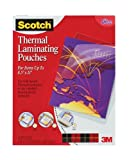 Scotch(TM) Thermal Laminating Pouches, 9 Inches x 11.4 Inches, 50 Pouches (TP3854-50)