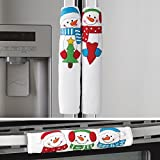 Set of 3 Winter Snowman Appliance Handle Covers