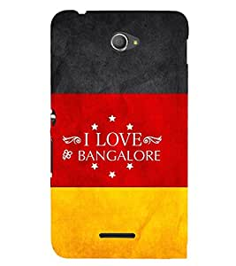 EPICCASE I luv bangalore Mobile Back Case Cover For Sony Xperia E4 (Designer Case)
