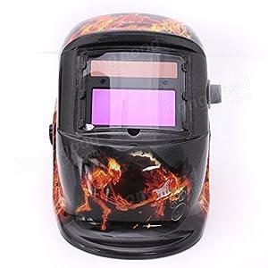 Saver Ghost Fire Solar Auto Darkening Welding Helmet Arc Tig mig Grinding Welders Mask by 365 Saver
