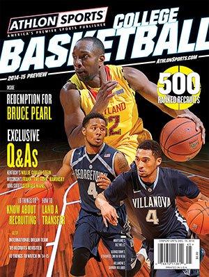 2014-15 Athlon Sports College Basketball Preview Magazine- Maryland Terrapins/Georgetown Hoyas/Villanova Wildcats Cover