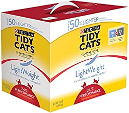 Tidy Cats Cat Litter, Clumping, 24/7 Performance, LightWeight, 10 -Pound Box, Pack of 1