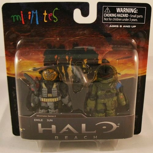Picture of Diamond Select Halo Minimates Mini Figure 2Pack Emile Jun (B0052XMWB0) (Halo Action Figures)