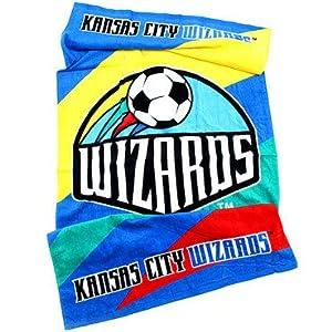 MLS Kansas City Wizards Soccer Fiber Reactive Pool Beach Bath Towel by JPI