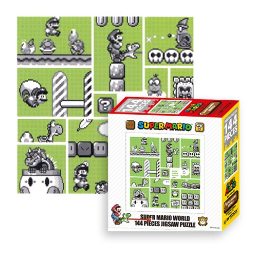 Ensky Nintendo Super Mario Brothers 30th Anniversary Green Mario World Jigsaw Puzzle (144 Piece) (Wario Woods Snes compare prices)