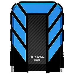 ADATA Dash Drive Durable HD710 Portable External Hard Drive, Blue, 1TB