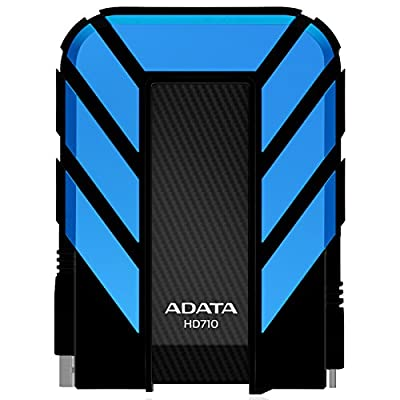 Adata Dash Drive Durable HD710 2 TB External Hard Drive Portable blue