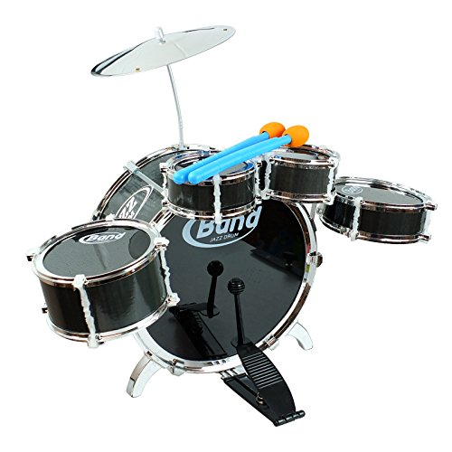 6-piece-black-junior-drum-set-with-crash-cymbal-2-drumsticks-easy-to-assemble-kit-perfect-gift-for-r