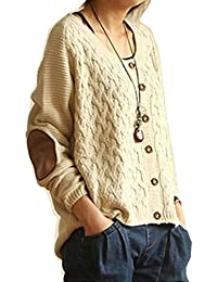 Vintage Retro Women's Knit Casual Loose Cardigan Sweaters Jumper Tops Outwear