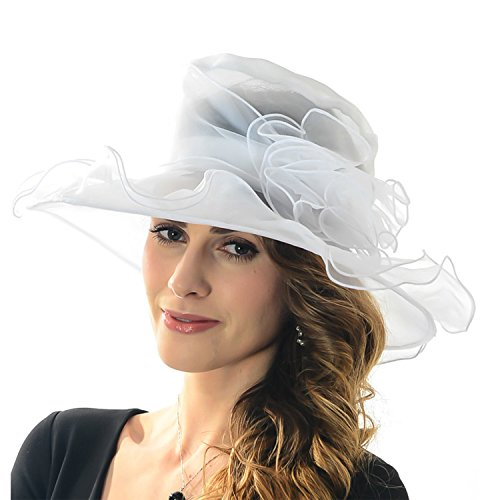 acediscoball-womens-sheer-wide-brim-sun-party-church-wedding-floral-organza-hat-white