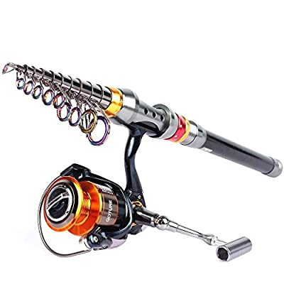 Goture Spinning Rod and Reel Combos Carbon Telescopic fishing Pole With Spinning Reel 2.7M 3.0M 3.6M 4000 11BB CNC Handle Sea Saltwater Freshwater Kit Fishing Rod Kit by Goture