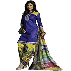 Typify Women's Cotton Unstitched Dress Material (TYPIFY248_Multicolor_Free Size)