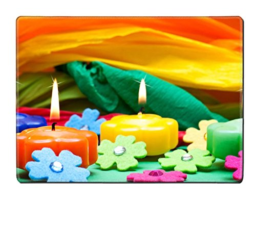Liili Placemat IMAGE ID 17469552 colorful background of candles flowers and crepe paper (Crepes Paper Holder compare prices)