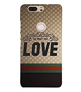 Do Want You Love 3D Hard Polycarbonate Designer Back Case Cover for Huawei P8