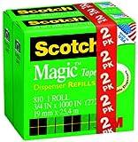 Scotch Magic Tape, 3/4 x 1000 Inches, 2-Pack (810-2PK-TB)