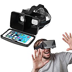 Evana Hot Selling VR Headset Virtual Reality (VR) Google Cardboard 3D Glasses ABS With Resin Lens Black