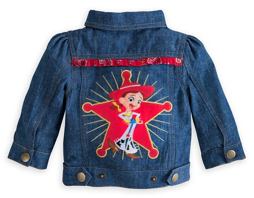 Disney Store Toy Story Jessie Cowgirl Denim Jacket Size 3T Toddler Costume