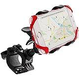 Bike Mount, GreatShield Clip-Grip [Upgrade Version - Elastic Secure Strap] Handlebar Bike Mount Holder for iPhones, Samsung Galaxy, LG, BlackBerry, HTC Smartphones, GPS Devices and More