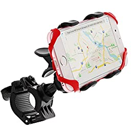 Bike Mount, GreatShield Clip-Grip [Upgrade Version - Elastic Secure Strap] Handlebar Bike Mount Holder for iPhone 7 Plus 6S 6 Plus SE 5, Galaxy S7 S6 Edge, Note 7 5 4, LG G5 G4, HTC 10 Smartphones
