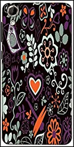 Snoogg Colorful Floral Seamless Pattern In Cartoon Style Seamless Pattern Designer Protective Back Case Cover For HTC Desire 728