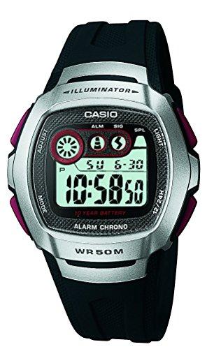 CASIO W-210-1D - Reloj digital, para hombre, color gris y negro
