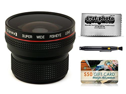 Opteka .20X HD Super AF Fisheye Lens with Microfiber Cloth for Nikon D4s, D4, D3x, Df, D810, D800, D750, D610, D7200, D7100, D7000, D5500, D5300, D5