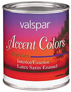 Valspar 3052 Interior Exterior Latex Satin Enamel 1 Quart Yellow Base Accent Spray Paints