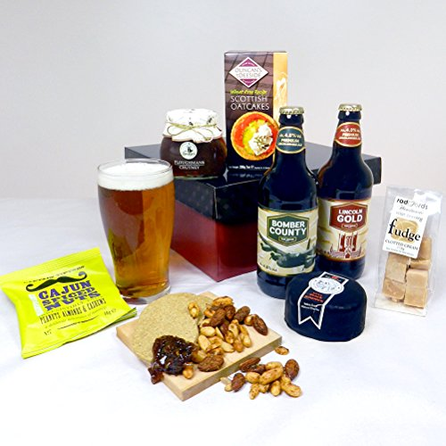 Cheese, Beer and Nibbles Hamper Gift - FREE UK delivery