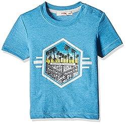 Fox Baby Boys' T-Shirt (Turquoise Melange_18-24 M_327632)