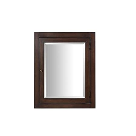 Hembry Creek - Richmond 24 in. x 30 in. Surface-Mount Corner Medicine Cabinet in Mahogany - Mahogany