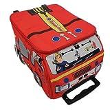 Fireman Sam Character Luggage Bag (Color: Red, Tamaño: Small)