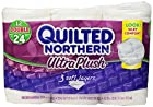 Quilted Northern Ultra Plush Double Roll Toilet Tissue-White-12 ct