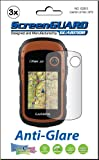 3x Garmin eTrex 10 20 30 Handheld GPS Premium Anti-Glare Anti-Fingerprint Matte Finishing LCD Screen Protector Cover Guard Shield Protective Film Kits (Package by GUARMOR)