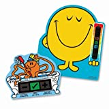 Mr Men Pack of Mr Happy Nursery Room thermometer and Mr Tickle Bath Thermometer for Baby/Child