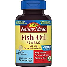 Nature Made Fish Oil, 500 mg, Pearls, 90 softgels