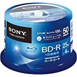 SONY Blu-ray Discs 50 Spindle - BD-R 25GB 4X for VIDEO - 2012