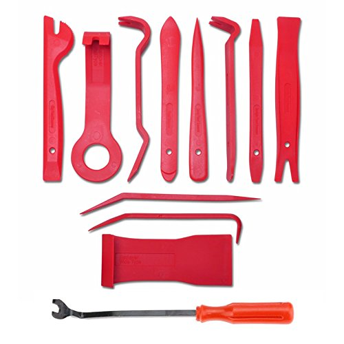 AOMAX Panel Removal Tool 12 pcs - Premium Auto Trim Upholstery Removal Kit - Easiest to Use Fastener Remover for Door Trim Molding Dash Panel Nylon Door Trim Panel