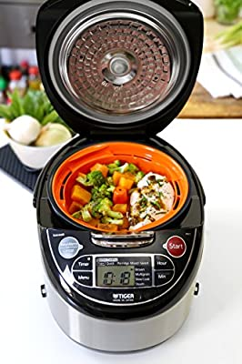 Tiger Corporation 5.5-Cup Micom Rice Cooker and Warmer with 4-in-1 Functions by Tiger Corporation